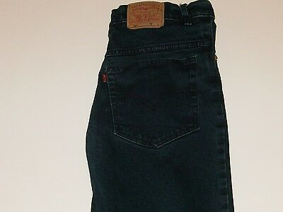 Gently Worn Men's Levis 501 Zippered Dark Wash Jeans 31X30 Red Tab Big E