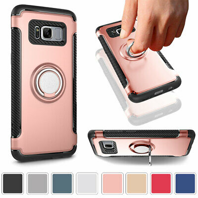 Shockproof Hybrid Ring Stand Case Cover For Samsung Galaxy S7 Edge S8 Plus Note8
