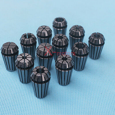 "New 12Pcs ER16 Spring Collet Set 1/32""-3/8"" For CNC Milling Lathe Tool Engraving"