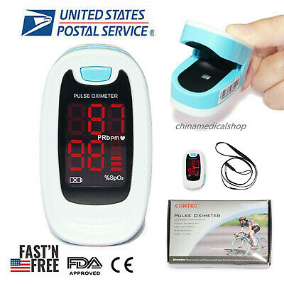 Finger Tip Pulse Oximeter with Carrying Case LED SPO2 Saturation Oxymeter FDA CE