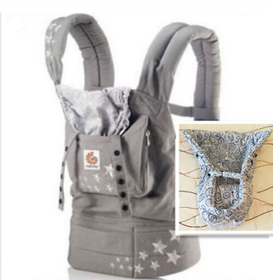 New ERGO Original Baby Carrier Galaxy Grey with Gray Infant Insert @