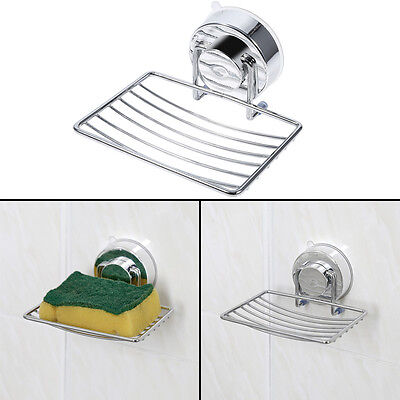 Strong Suction Removable Dish Holder Basket Tray Bathroom Soap Organizer Rack