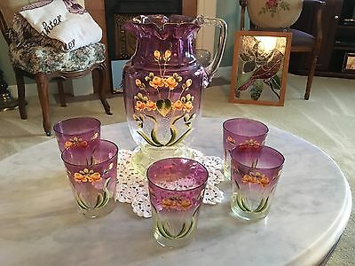 Antique Pitcher and glasses