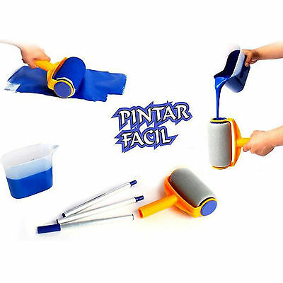 5Pcs/set Paint Roller Pro Flocked Edger Brush Handle Room Wall Painting Runner