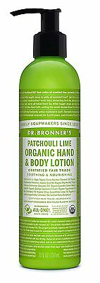 Dr. Bronner's Patchouli Lime Organic Hand and Body Lotion 8 oz