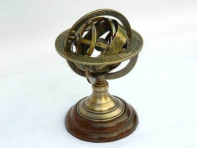 6Inch Solid Brass Demonstrational Armillary Sphere