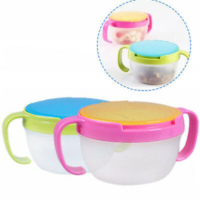 Baby Child Kids Food Snacks Candy Anti spill Storage Holder Dishes Handle Travel