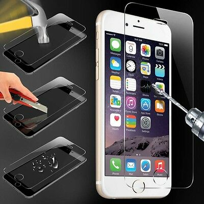 Tempered glass VERRE TREMPE film pour iPhone 2 4 4S 5 5C 5S SE 6 6S 7 8 PLUS