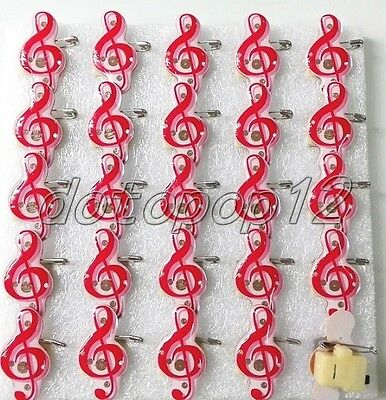 Lot Music notation Flashing LED Light Up Badge/Brooch Pins Party Favors Z519