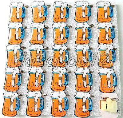 Lot Beer Flashing LED Light Up Badge/Brooch Pins Kids Party Favors Z520