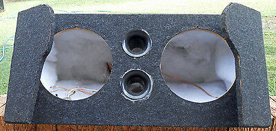 "VE Holden Commodore Dual 12inch sub custom boot install 12"" subwoofer box"