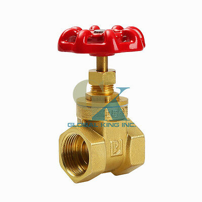"1"" BSPP Brass Gate Valve 232Psi full Port Water oil gas"