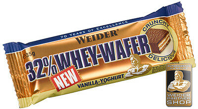 Weider 32% Whey Wafer (30,70€/Kg) 24x 35g Box #Mixed ALLE SORTEN