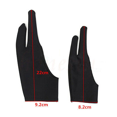 1pc Two Finger Anti-fouling Glove For Artist Drawing & Pen Graphic Tablet Pad