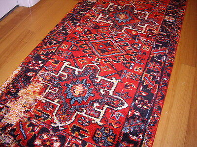 Hallway Runner Hall Runner Rug Modern Red 3 Metres Long FREE DELIVERY