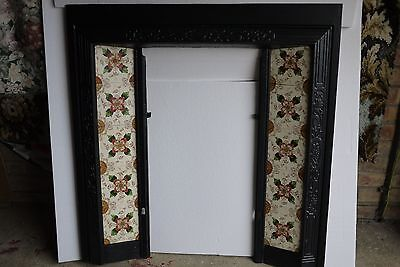 Cast  Iron  Fireplace  Surround  And Tiles