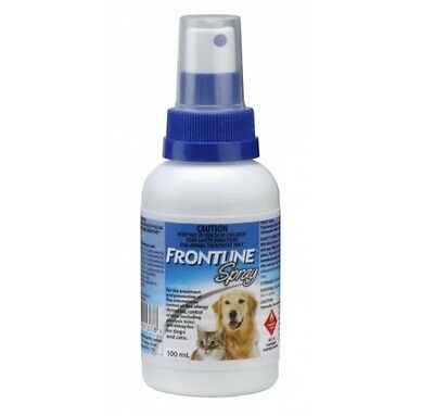 Frontline Spray Flea Tick control treatment 100 ml for Dogs and Cats by Merial
