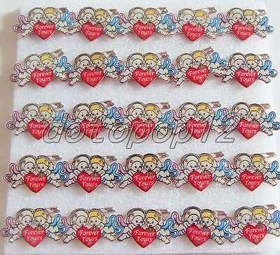 Lot angel Flashing LED Light Up Badge/Brooch Pins Kids Party Favors Z561
