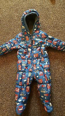 Mothercare 6-9 months boys pram suit snow suit
