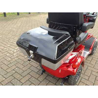 Universal Rear Back Box with Lock for Mobility Scooters Black Fits Most Scooters