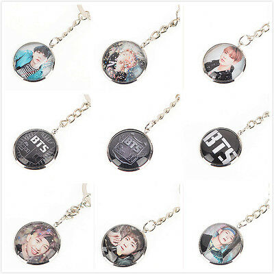 Lot of & Fashion Kpop BTS Bangtan Boys Metal Key Chain Keyrings Key Ring