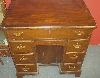 George 111, Mahogany Kneehole Desk,  Ca. 1760-1790, No Reserve