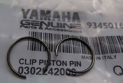 Genuine Yamaha YP125 YP150 Majesty Piston Gudgeon Pin Circlips Pair 93450-16X01