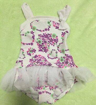 Baby Girls SEAFOLLY White/Floral Tutu Bathers, Size 0