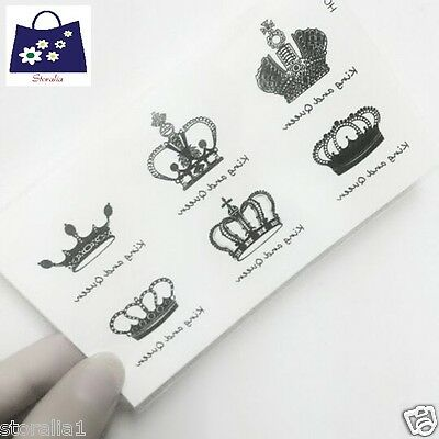 Waterproof BodyArt King Queen Fake Temporary Flash Tattoo Crown tatts Sticker