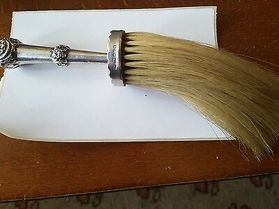 victorian silver whisk brush