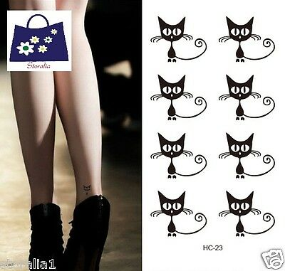 Waterproof Removabl BodyArt Cute Cat Fake Temporary Flash Tattoo tats Sticker