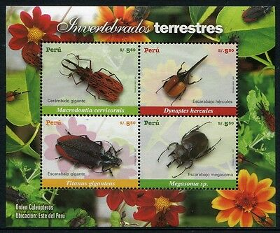 Peru 2007 Käfer Beetles Insekten Insects Block 44 Postfrisch MNH