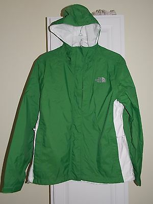 The North Face HyVent Green & White Hooded Jacket Womens Size M Medium