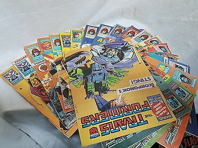 Job lot of 20xMarvel The Transformers comic UK Weekly  1987-1988