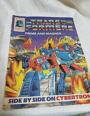 Marvel The Transformers comic UK Weekly #103 March  7th 1987