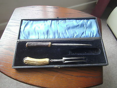 Antique Rawson Brothers Sheffield Meat Carving Set