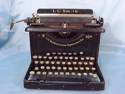 "L.C Smith & Corona #8 With 10"" Carriage (1930's-40's)"