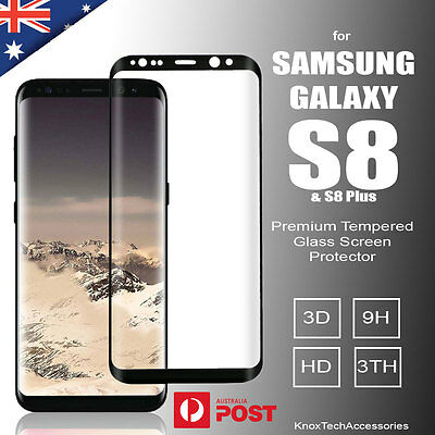 Samsung Galaxy S8 and S8 Plus Full Cover Curved Tempered Glass Screen Protector