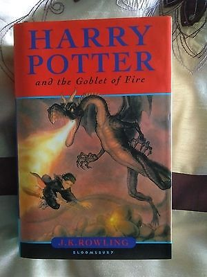 Harry Potter And The Goblet Of Fire  Uk  First Edition. First Print