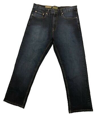 Urban Star Men's Relaxed Fit Straight Leg Jeans Blue Black