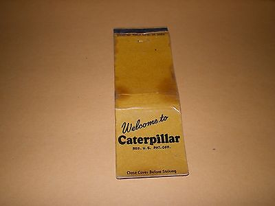Old Welcome to Caterpillar Universal Matchcover