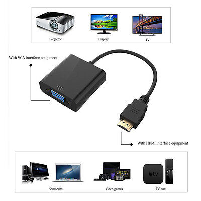 PC DVD HDTV Adapter Cable HDMI Male To VGA Female 1080P Video Converter