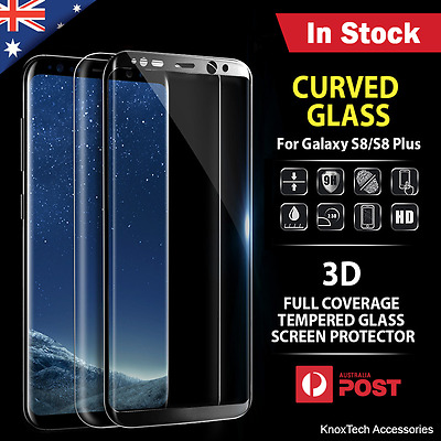 Samsung Galaxy S8 and S8 Plus Full Coverage Tempered Glass Screen Protector Film