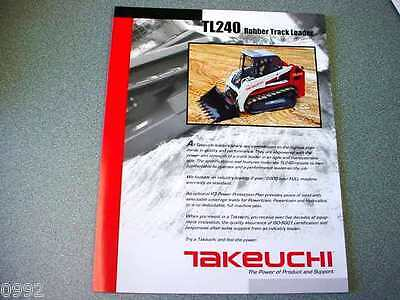 Takeuchi TL240 Rubber Track Loader Brochure