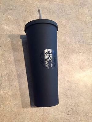 NEW! Starbucks 2017 Matte Black Acrylic Tumbler 24 oz RARE!