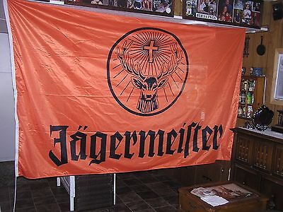 """JAGERMEISTER 96"""" x 57"""" Orange  BANNER FLAG MADE IN GERMANY FREE SHIPPING"""