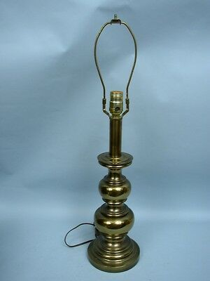 "Stiffel Vintage 26"" Solid Brass Traditional Table Lamp - No Shade"