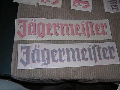 """2 JAGERMEISTER Stickers 19"""" x 4"""" FREE SHIPPING"""