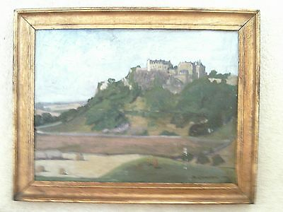 An Original Oil Painting on Board of Stirling Castle, signed & dated 1919