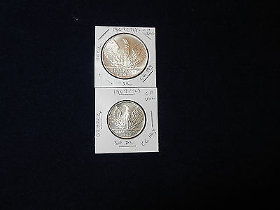 1967 (1970) Greece 50 Dr + 1967 (1970)100 Dr, Revolution Silver Coin choice unc